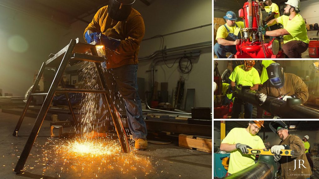 Welding Workers in action