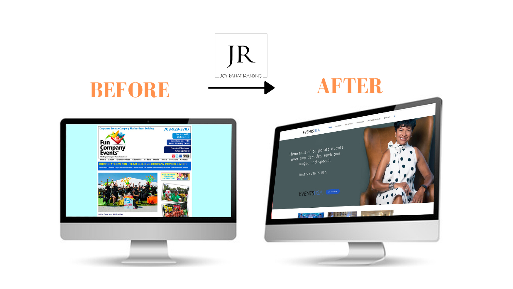 before after website design