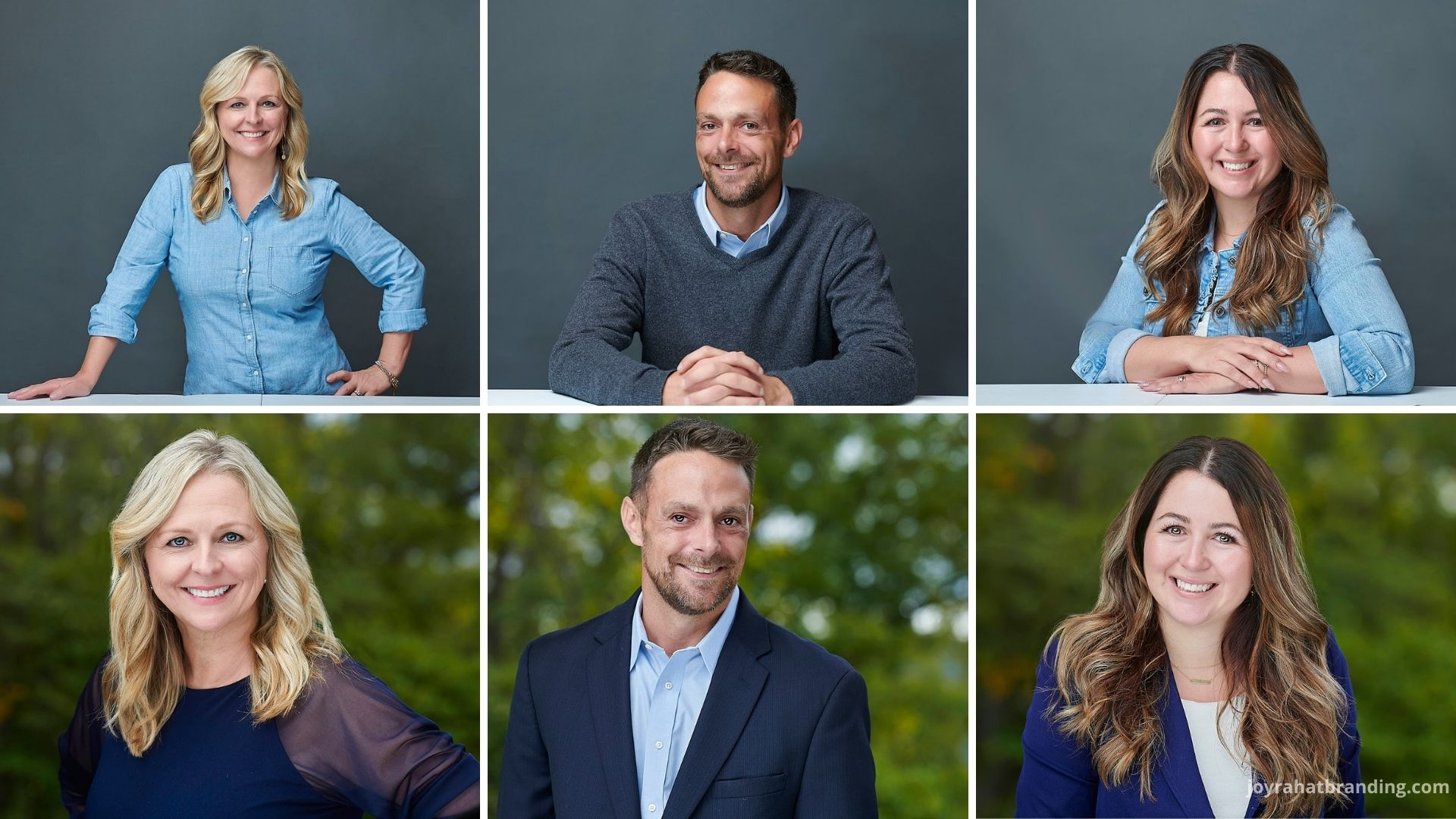 headshots for real estate team outdoor