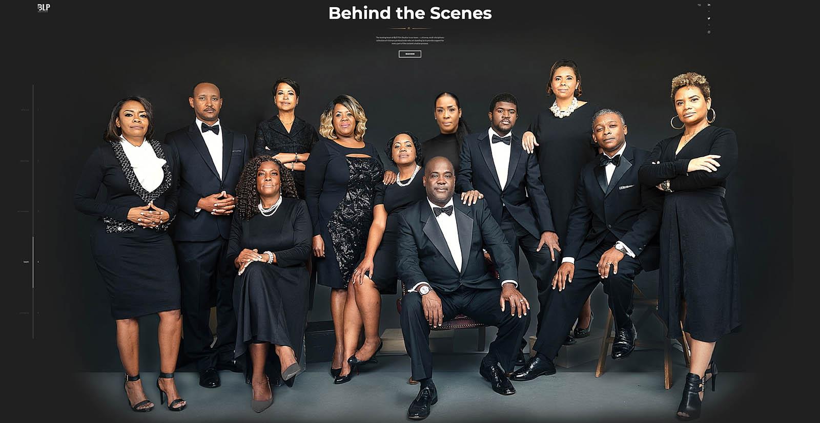 Black tie corporate group portraits