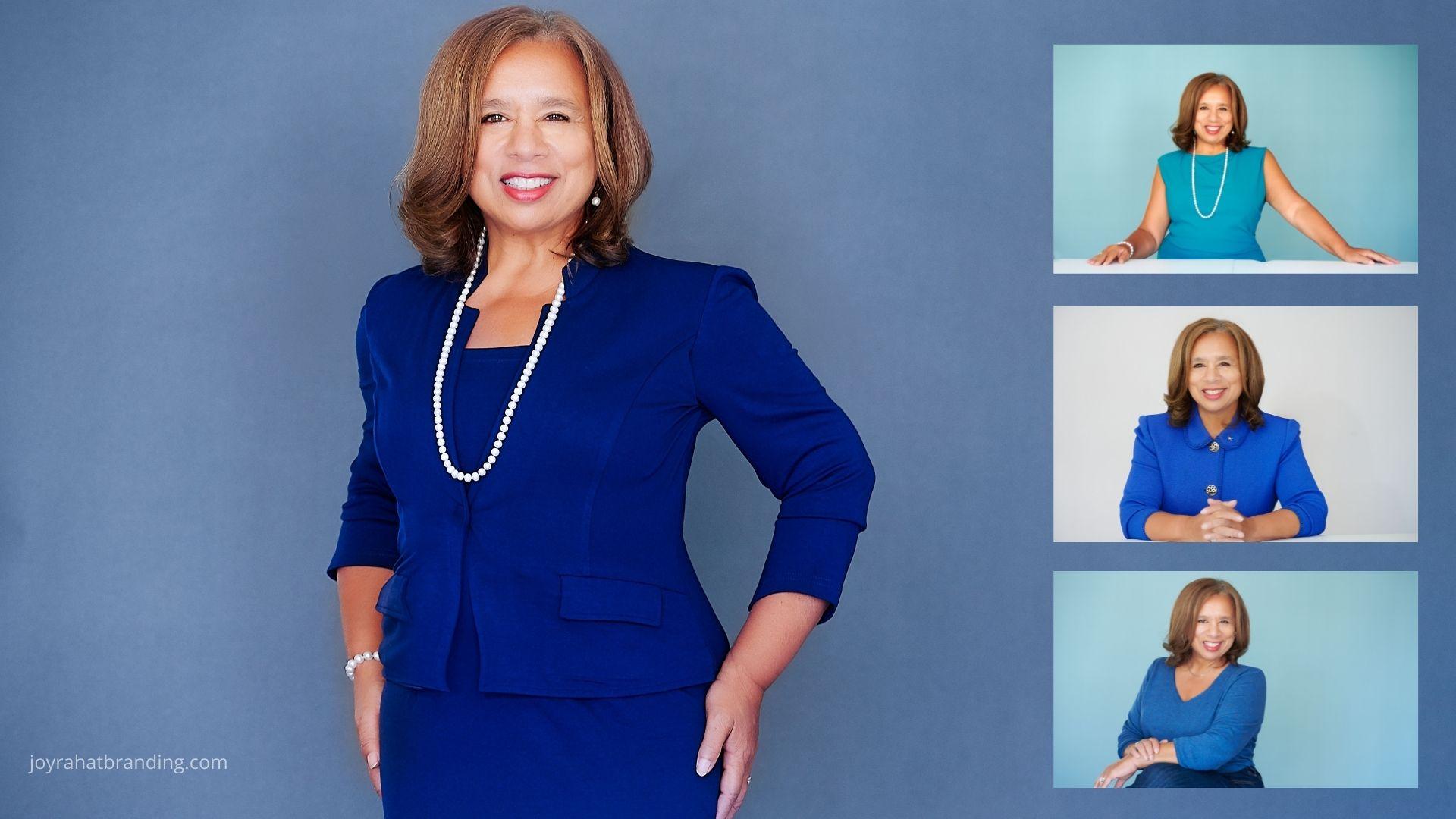 Personal branding portraits for mature women